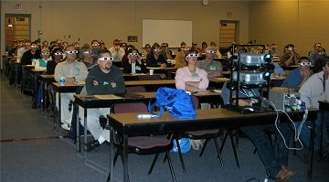 3D projector and audience